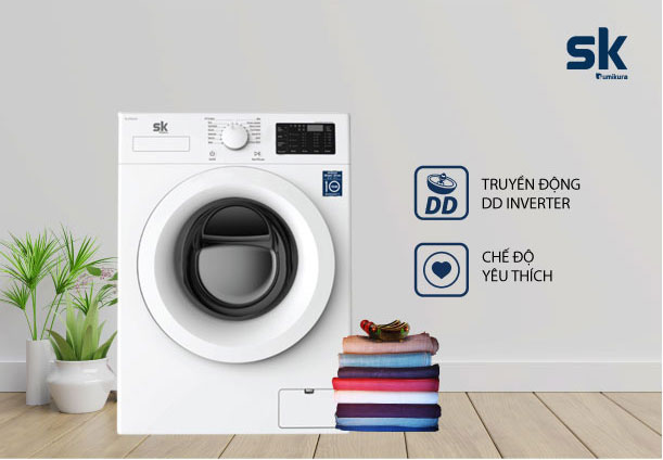 Máy giặt lồng ngang Sumikura SKWFID-125P1
