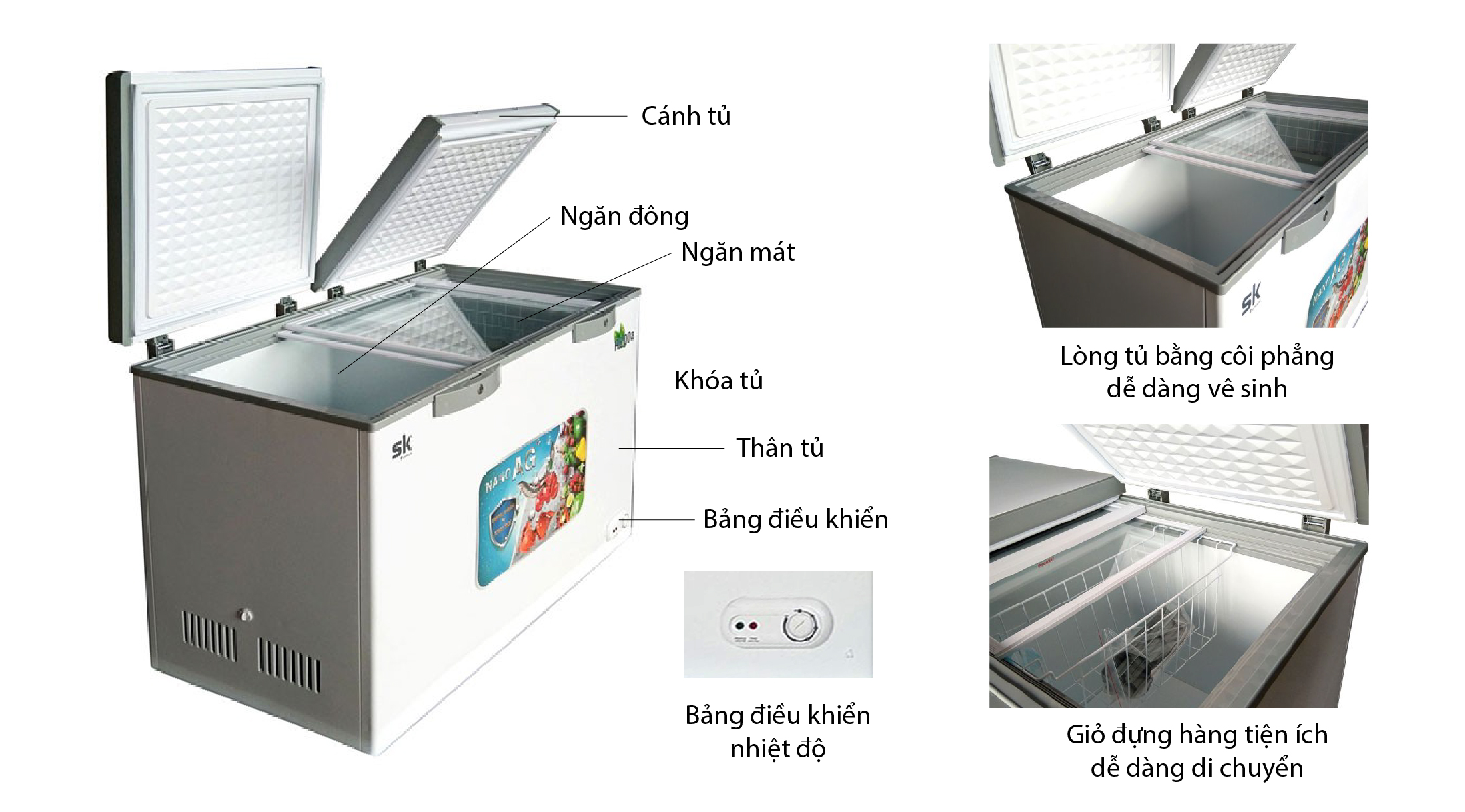 tủ đông sumikura SKFCD-210