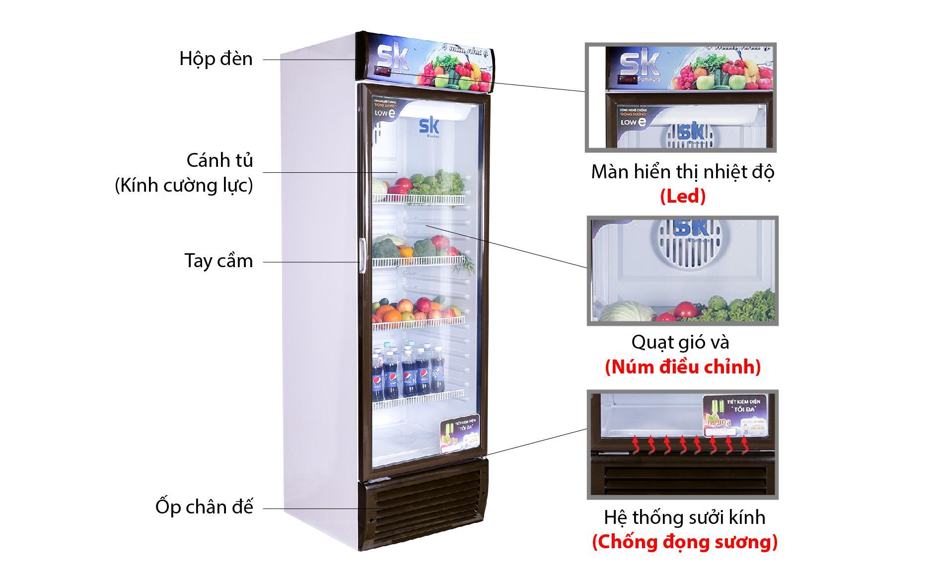 tủ mát Sumikura SKSC-450