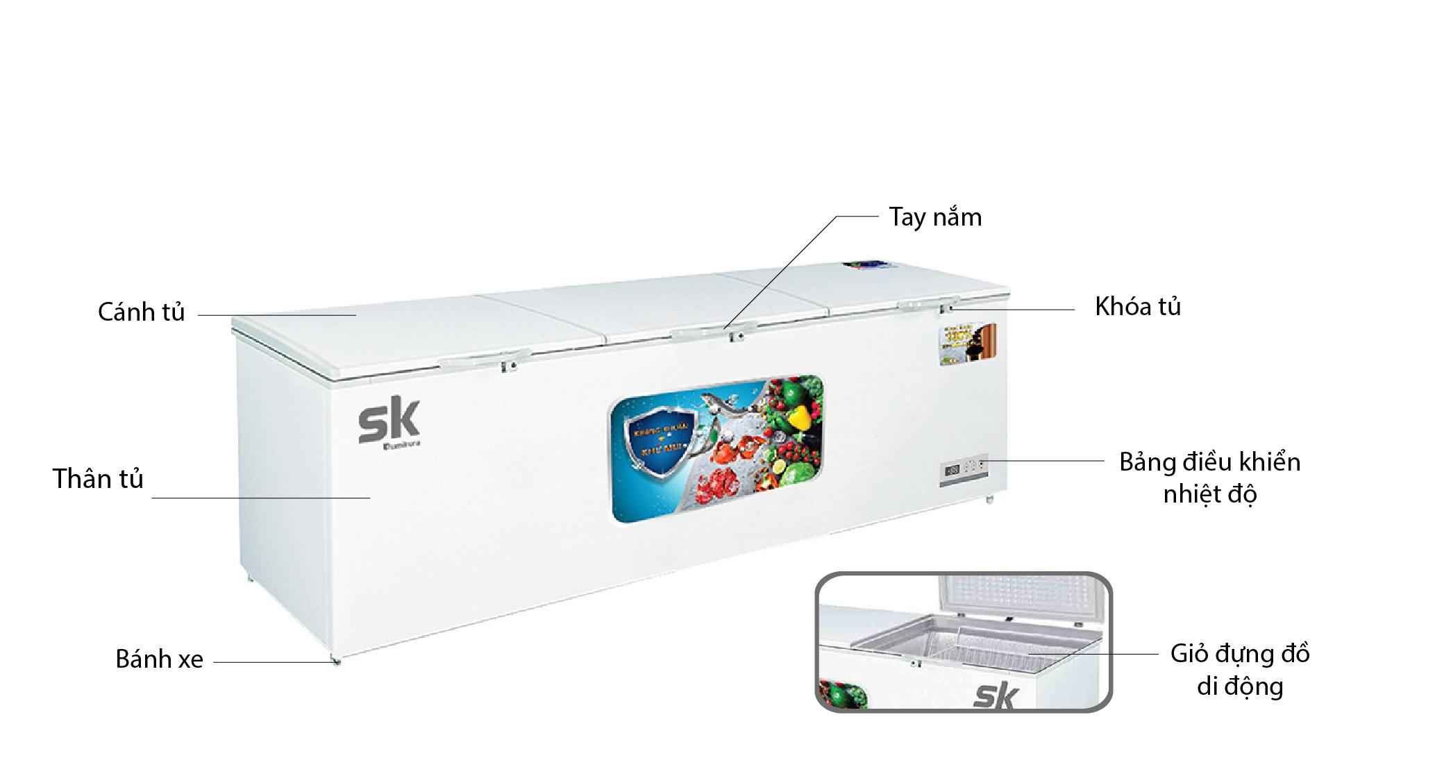 tủ đông sumikura skfcd-1350s