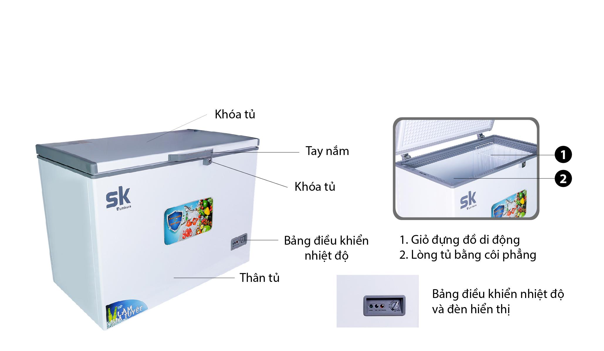 tủ đông sumikura SKF-450S