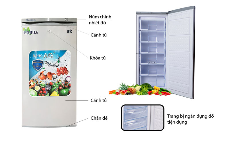 tủ đông đứng sumikura skfu-155