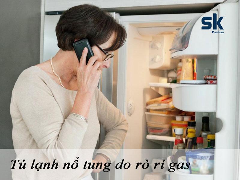 tủ lạnh nổ tung