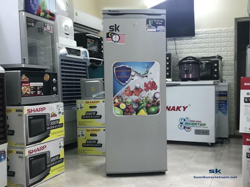 review tủ đông đứng sumikura