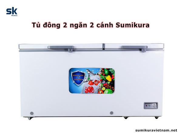 tủ đông 2 ngăn 2 cánh sumikura
