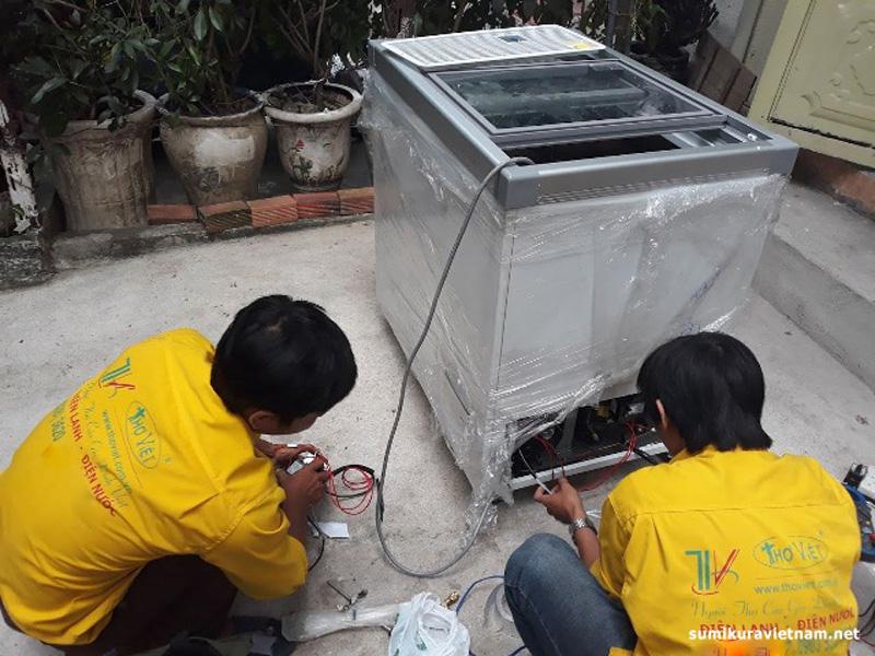 tủ đông bị rò rỉ điện