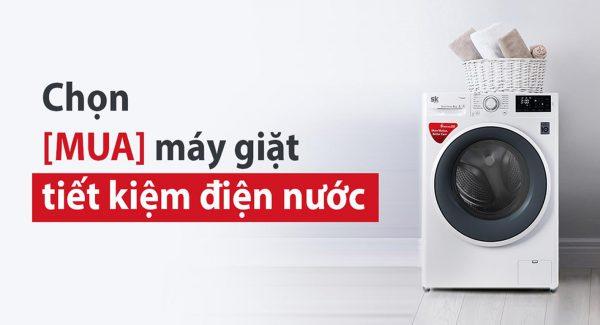 máy giặt tiết kiệm điện nước