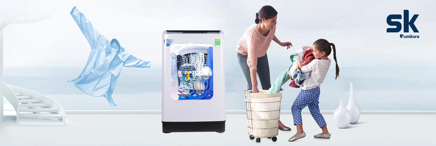 sử dụng máy giặt mùa mưa
