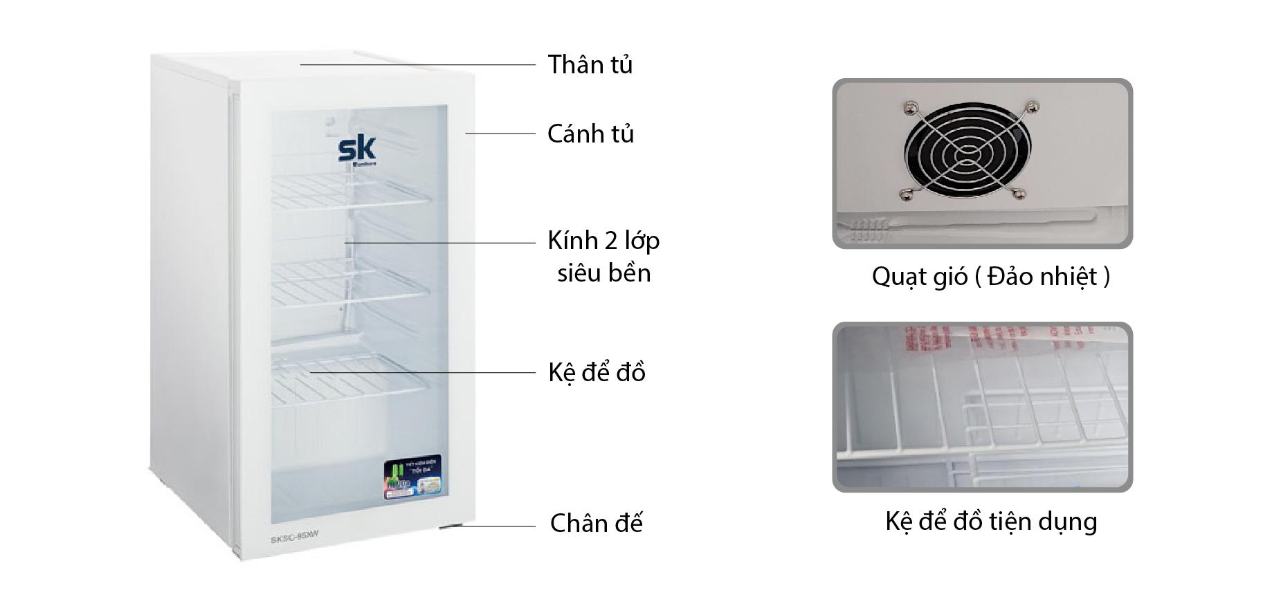 Tủ mát Sumikura SKSC-95XW