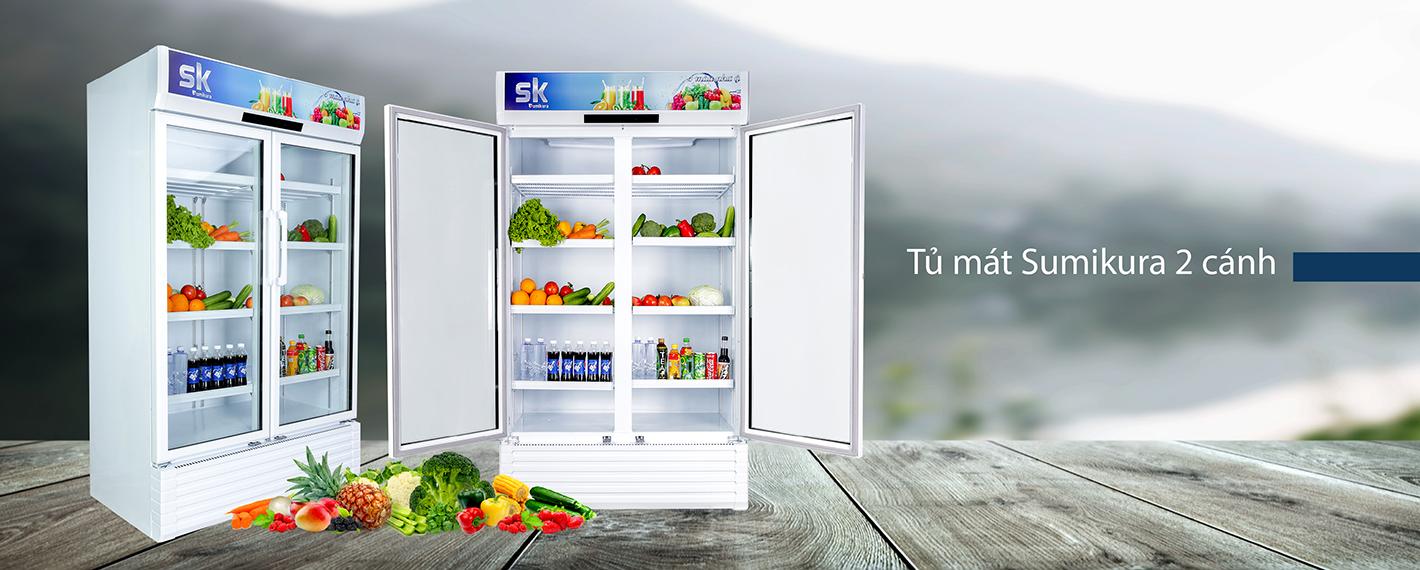thiết kế tủ mát sumikura sksc-1202wg2/hw