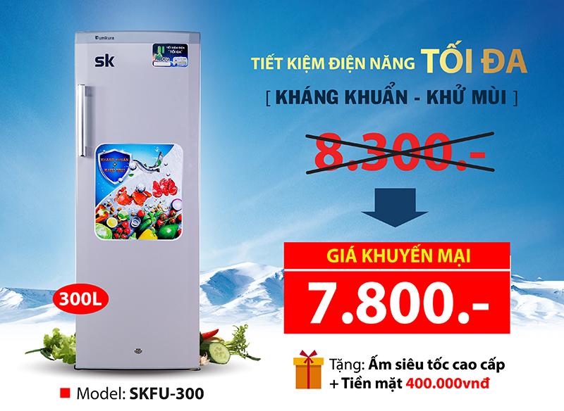 Banner tủ mát Sumikura 300L