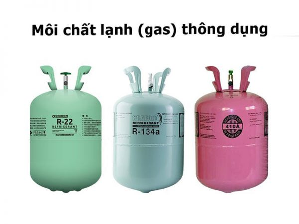 môi chất làm gas điều hòa