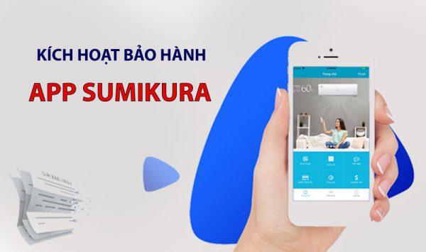 kích hoạt bảo hành app sumikura