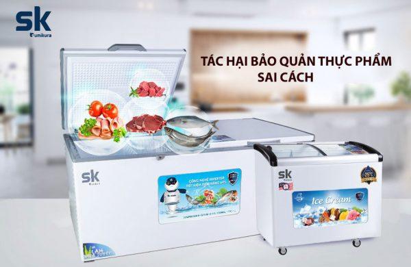 tác hại bảo quản thực phẩm trong tủ đông sai cách